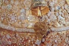 Spitze der Shwedagon-Pagode