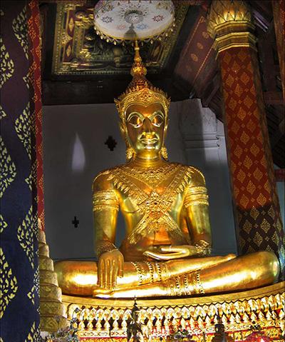 Buddha-Figur im Wat Phra Men