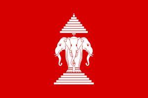 Laotische Flagge bis 1975